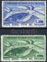 75 éves az UPU sor (barnás gumi), 75th anniversary of UPU set (brownish gum)