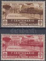 1934 Légiposta bélyeg sor Mi 512-513 (barnás gumi / brownish gum)