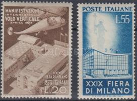 1951 Milánói vásár sor Mi 830-831 (Mi EUR 110.-) (barnás gumi / brownish gum)