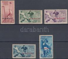 1934 Labdarúgó VB. 5 érték Mi 137-141 (bebarnult gumi / brownish gum)