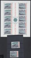 1987 Europa CEPT modern építészet sor Mi 1794-1795 + blokk Mi 35