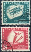 1951 Téli sport bajnokság sor Mi 280-281