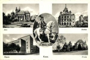 Kassa, dóm, Színház, Fő utca, Főposta / dome, street, theatre, post office (EK)