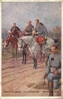 Gebet vor der Schlacht / WWI K.u.K. hussars praying, Első világháborús osztrák magyar huszárok imádkoznak