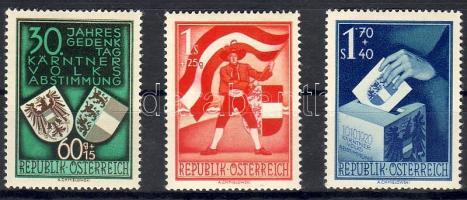 1950 Karinthiai népszavazás / Volksabstimmung Mi 952-954 (Mi.EUR 160.-)
