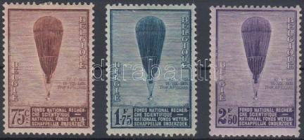 1932 Sztratoszférakutatás, Piccard ballon sor Mi 344-346