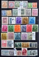 Vallás motívum gyűjtemény, főleg régebbi külföldi anyag (Mi EUR 781.-) + régebbi és modern magyar anyag, 20 lapos A/4 berakóban