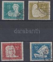 1950 Johann Sebastian Bach halálának 200. évfordulója sor Mi 256-259