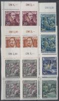 1955 Friedrich Engels halának 60. évfordulója 6 ívsarki négyestömb (sor) Mi 485-490