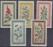 1960 Őshonos gyógynövények sor Mi 757-761