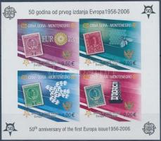 50th anniversary of Europa CEPT stamo imperforated block, 50 éves az Europa CEPT bélyeg vágott blokk