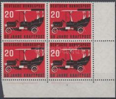 1955 Postakocsi ívsarki négyestömb Mi 211