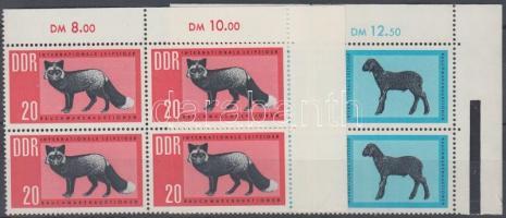 1963 Nemzetközi dohányaukció 2 ívsarki négyestömb (sor) Mi 945-946