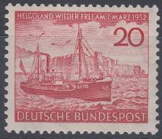 1952 Helgoland szigetének visszaadása Mi 152