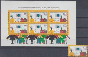 1990 Nemzetközi ifjúsági bélyegkiállítás blokkból kitépett bélyeg Mi 1472 + blokk Mi 21