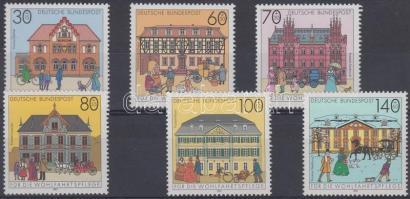 1991 Történelmi postaépületek Németországban sor Mi 1563-1568