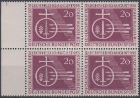 1955 A lechfeldi csata 1000. évfordulója ívszéli négyestömb Mi 216