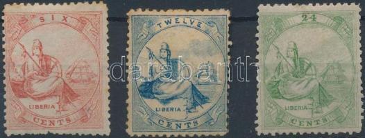 1860 Forgalmi bélyeg sor Mi 1-3 (rozsda)