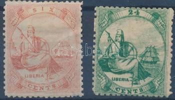 1860 Forgalmi bélyeg sor Mi 1+3 (foghiba/perf.fault)