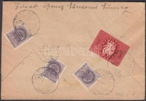 1946 (8. díjszabás) Távolsági levél nyomtatványként feladva Köztársaság 3ezerP bérmentesítéssel