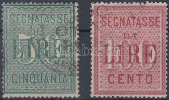 1884 Verrechnungsmarken Mi 2-3