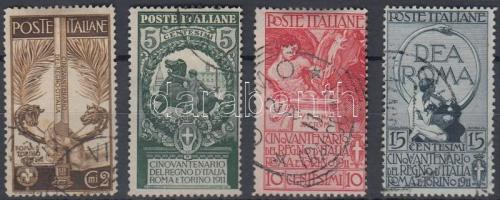 1911 50 éves az Olasz Királyság sor Mi 100-103