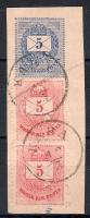 1874 5kr pár 5 kr díjjegyes kivágáson KABA