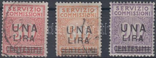 1925 Verrechnungsmarken Mi 9-11