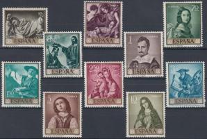 1962 Festmény (V) sor Mi 1304-1313
