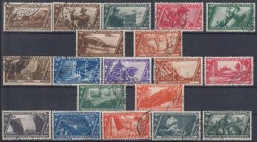 1932 A római menetelés, 5L érték nélkül Mi 415-434 (hiányzik a Mi 430)