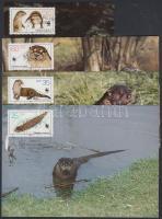 1987 WWF kihalástól veszélyeztetett állatok: vidra sor Mi 3107-3110 4 CM