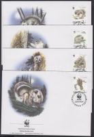 1994 WWF közönséges repülőmókus sor Mi 229-232 4 FDC