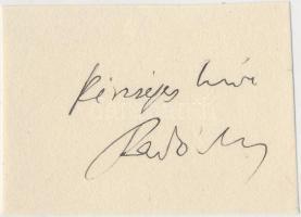 Fényes Imre (1917-1977) elméleti fizikus, az egyik legeredetibb, legmélyebb gondolkodású magyar természettudós. Elsősorban a kvantumelmélet, kvantumfizika, mikrofizika, termoszattika területén ténykedett. Aláírás kivágáson.