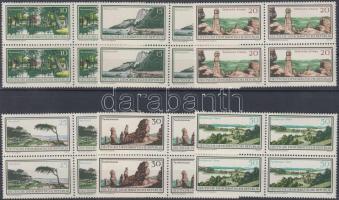 1966 Természetvédelmi területek sor négyestömbökben Mi 1179-1184