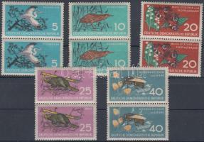 1959 Természetvédelem; Állat sor párokban Mi 688-692