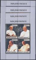 Pope John Paul II's death gold/silver minisheet set, II. János Pál pápa halála arany/ezüst kisívsor