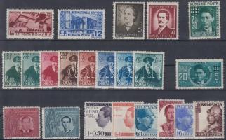 22 stamps with sets, 22 db bélyeg, közte sorok