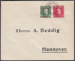 1916 Mi 95-96 levélen
