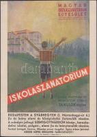 cca 1920-1940 A Magyar Iskolaszanatórium Egyesület szórólapja gyenge, vérszegény és megerősítésre szoruló tanulók részére, 17x24 cm