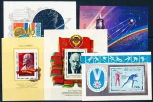72 stamps with sets and relations + 7 blocks on 4 steckboards, 72 db bélyeg sorokkal és összefüggésekkel + 7 db blokk, 4 stecklapon