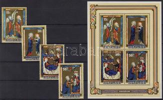 1980 Karácsony, festmények Mi 768-771+blokk 106