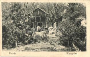 Pomáz, Wattay-lak, Groszelb Gusztáv kiadása