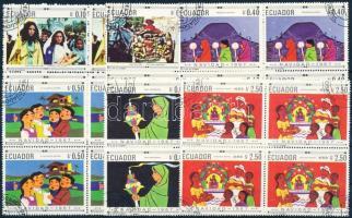 1967 Karácsony sor négyestömbökben Mi 1392-1397