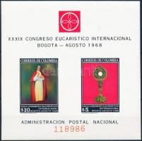 1968 Eucharisztika kongresszus sor négyestömbökben Mi 1125-1134 + blokk Mi 29