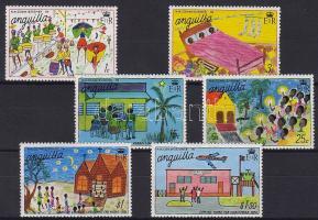 1976 Karácsony, gyermekrajzok sor Mi 263-268