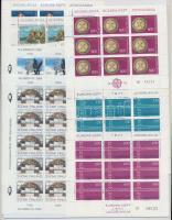 Europa CEPT Yugoslavia 3 minisheet pairs + France 1 minisheet pair, Europa CEPT Jugoszlávia 3 db kisív pár + Finnország 1 db kisív pár