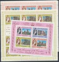 25th anniversary of Queen Elizabeth's coronation minisheet set + block, II. Erzsébet koronázásának 25. évfordulója kisív sor + blokk