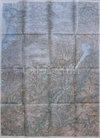 cca 1910 Dél Tirol katonai térkép / cca 1910 South Tirol military map 80x60 cm