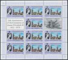1978 II. Erzsébet koronázásának 25. évfordulója kisív sor Mi 385 A-388 A