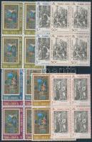 1969-1971 Húsvét és Karácsony sorok összefüggésekben Mi 238-241, 244-246, 282-287